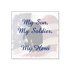 My Son, My Hero Square Sticker