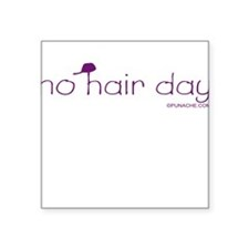 NO HAIR DAY Square Sticker