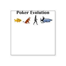 Poker Evolution Square Sticker