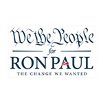 We the People for Ron Paul 38.5 x 24.5 Wall