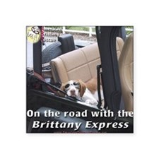 On The Road With Brittany Express Square Sticker