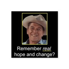 Reagan Remember Real Hope Square Sticker