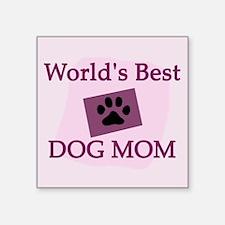 World's Best Dog Mom Square Sticker