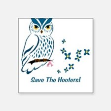 BC Save The Hooter's Square Sticker