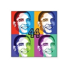 Warhol Obama Square Sticker