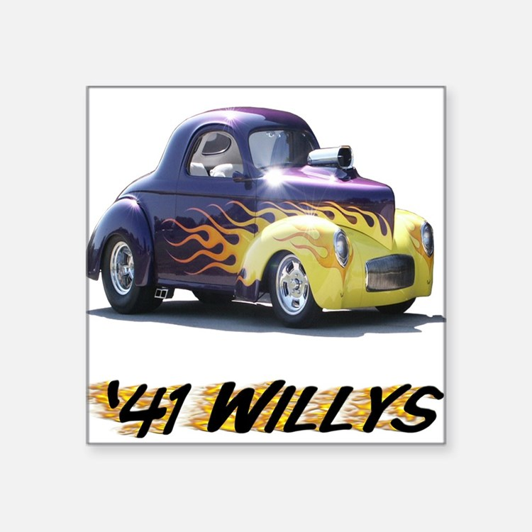 41 Willys Square Sticker