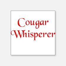 Cougar Whisperer Square Sticker