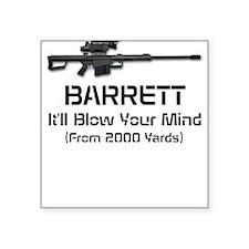 Barrett 50 Cal. Square Sticker