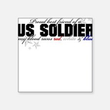 Red, white & blue Army Best F Square Sticker