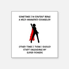 Counseling Superheroine Square Sticker
