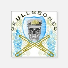 Skull & Bones Trombone Shirt - Square Sticker