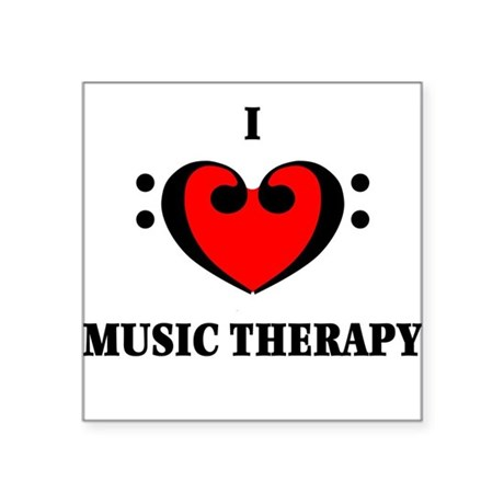 I Luv Music Therapy Square Sticker