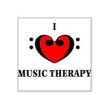 I Luv Music Therapy Square Sticker