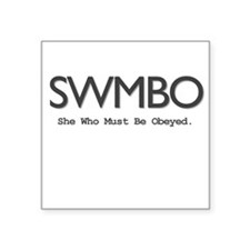 SWMBO Square Sticker (Light)