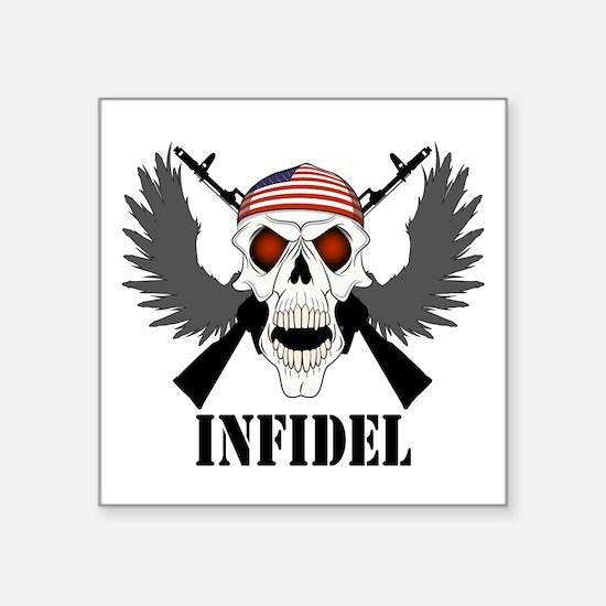 Infidel Skull Square Sticker
