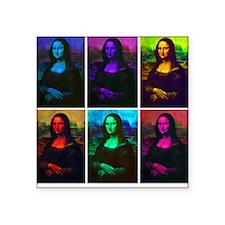 Mona Lisa Multicolor Square Sticker