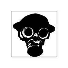 OLD TIMER GAS MASK Square Sticker