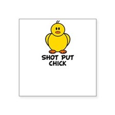 Shot Put Chick Square Sticker