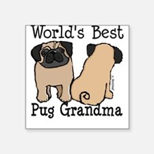 World's Best Pug Grandma Square Sticker