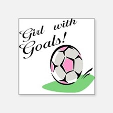 Girl with Goals Square Sticker