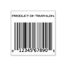 Traithlon Barcode Square Sticker