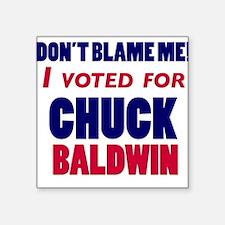 I Voted Chuck Baldwin Square Sticker