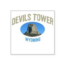 Devils Tower National Monumen Square Sticker