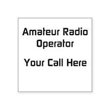 Personalized Call Sign Square Sticker