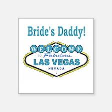 NEW T Blue Bride's Daddy Square Sticker