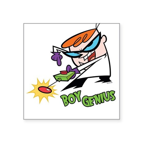 Dexter Boy Genius Square Sticker