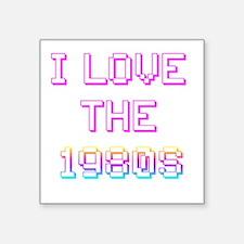 Rainbow I love the 1980s / 80 Square Sticker
