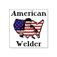 Welder Square Sticker