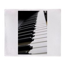 Piano Keys photo Throw Blanket