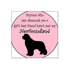 Girls Best Friend Square Sticker