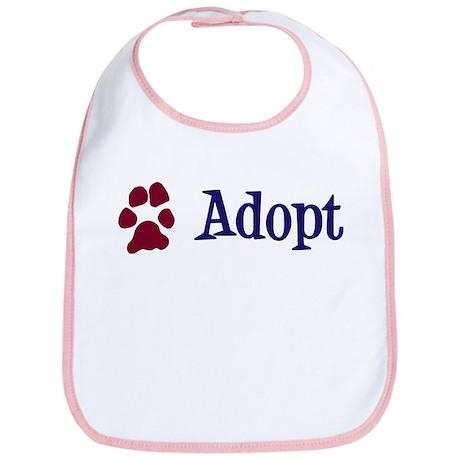 Adopt (With Paws) Bib