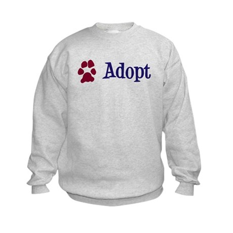 Adopt (With Paws) Kids Sweatshirt
