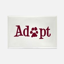 Adopt (With Paws) Rectangle Magnet