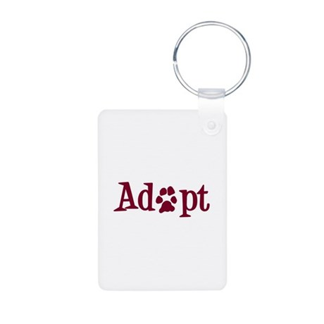 Adopt (With Paws) Aluminum Photo Keychain