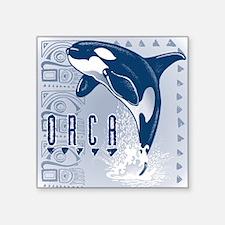 TRIBAL ORCA Square Sticker