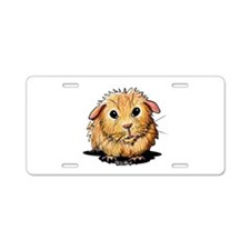 Golden Guinea Pig Aluminum License Plate