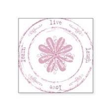 live, laugh, love, learn Square Sticker