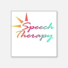 Speech Therapy Square Sticker