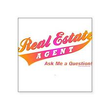 INVITE QUESTIONS (Orange Burst) Square Sticker