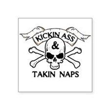 Baby Humor shirts Takin Naps Square Sticker