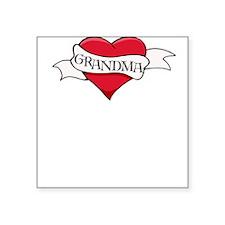 Grandma Heart Tattoo Square Sticker