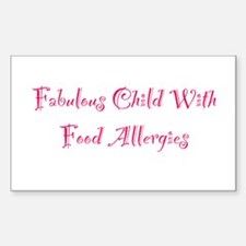 Fabulous Child With Food Allergies Decal