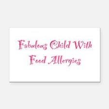 Fabulous Child With Food Allergies Rectangle Car M