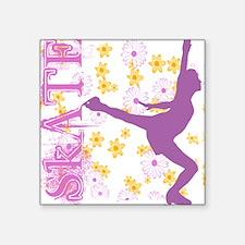 Skating Kid Square Sticker