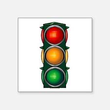 Stop Light Square Sticker