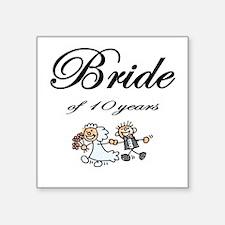 10th Wedding Anniversary Gifts Square Sticker